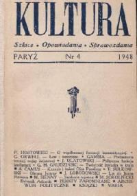 Kultura, nr 4 / 1948 - Redakcja pisma Kultura