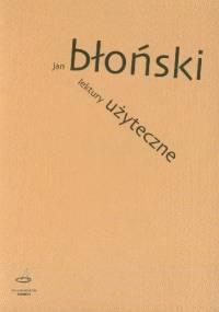 Lektury użyteczne - Jan Błoński