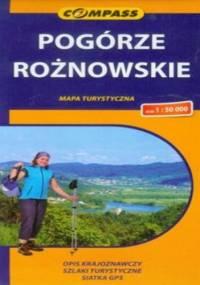 Pogórze Rożnowskie. Mapa turystyczna Compass 1:50 000