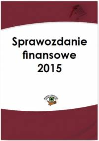 Sprawozdanie finansowe 2015 - Katarzyna Trzpioła